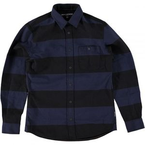 Wrenchmonkees Striped Shirt - Black Blue (30%세일)