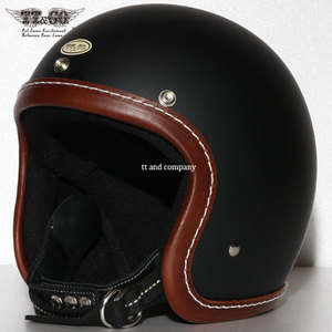 TT&CO Super Magnum<br>Leather Rim Shot Brown - Matt Black