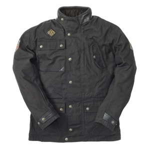 Ride & Sons Escape Waxed Jacket - Black 30%세일