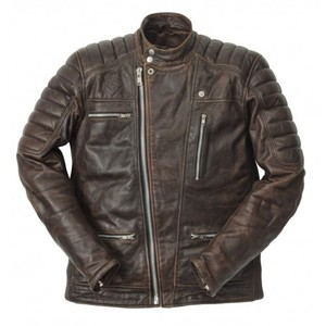 Ride & Sons Empire Leather Jacket - Brown 30%세일