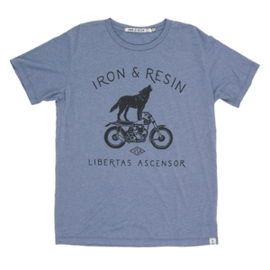 Iron & Resin Howling Tee - Washed Blue