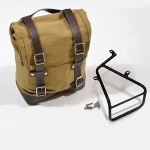 Unit Garage Side Pannier Bag + subframe RnineT - Beige/Brown
