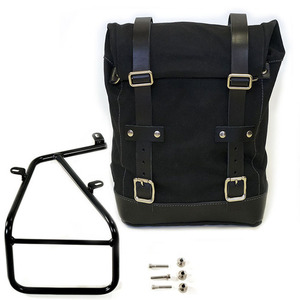 Unit Garage Side Pannier Bag + subframe RnineT - Black/Black