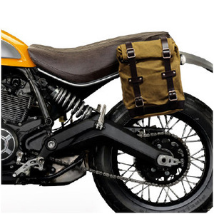 Unit Garage Side Pannier Bag + subframe Ducati Scrambler - Beige/Brown