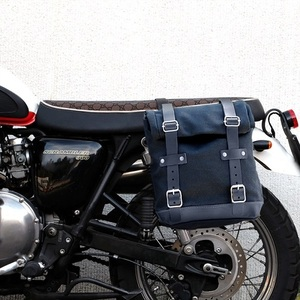 Unit Garage Side Pannier Bag + subframe Triumph - Black/Black
